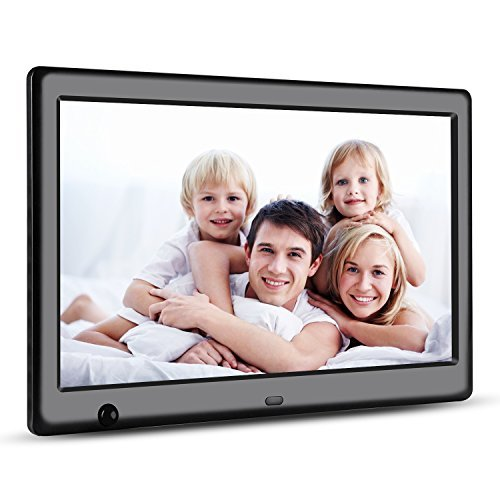 Apzka 10-Inch HD Digital Photo Frame with Motion Sensor, MP3 Photo Video & Music Playback, Calendar with 2GB Internal Memory & Remote Control (Black)
