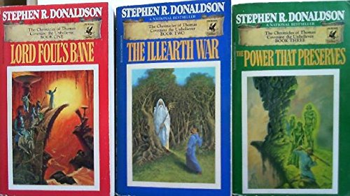 image of the first edition U. S. paperback covers of The Chronicles of Thomas Covenant the Unbeliever