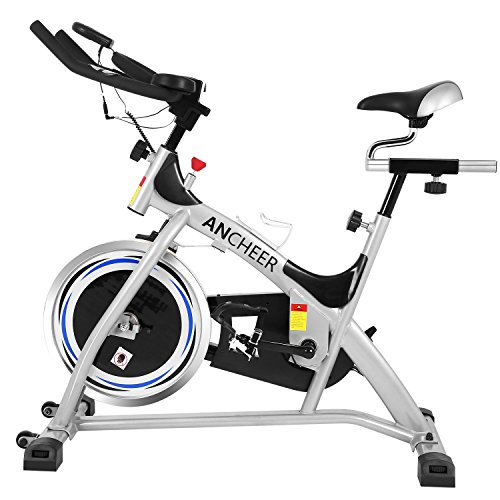 ANCHEER Indoor Cycling Exercise Bike (Sliver)