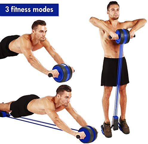 KOGNITA Ab Roller Exercise Equipment - Ab Roller with Resistance Band, Abdominal Wheel, Core Workout Machine for Home Gym 4