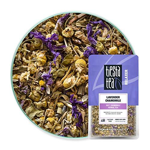 Tiesta Tea – Lavender Chamomile, Loose Leaf Soft Chamomile Herbal Tea, Non-Caffeinated, Hot & Iced Tea, 0.9 oz Pouch…