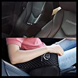VIP Luxury Black Memoryform Car Seat Cushions Armrest Center Consoles Cushion Pillow Pad for Car Motors Auto Vehicle(1pack) by GotoShop
