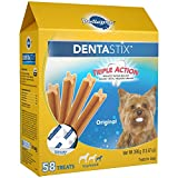 PEDIGREE DENTASTIX Toy/Small Treats for Dogs Original, 13.97 oz. Pack (58 Treats)