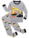 Family Feeling Little Boys Construction Pajamas Sets 100% Cotton Toddler Kid 3T