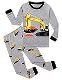 Family Feeling Big Boys Construction Pajamas Sets 100% Cotton Kid Pjs 8