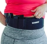 BravoBelt Belly Band Holster for Concealed Carry – Flex FIT Appendix Inside Waistband Gun Belt, Glock 17-43 Ruger S&W M&P 40 Shield Bodyguard Kimber & More | Men & Women - Perfect Gun Owner Gift