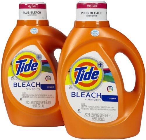 Tide Plus Bleach Alternative High Efficiency Liquid Laundry Detergent - 92 oz - Original - 2 pk
