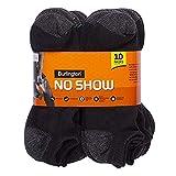 Burlington Comfort Power Men's No Show Socks (Size 6-12) - 10 Pairs (Black)