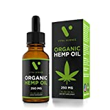 Hemp Oil for Pain & Anxiety Relief - 250mg Full Spectrum Organic Hemp Drops - Natural Hemp Oils for Better Sleep, Mood & Stress - Pure Hemp Extract - Zero THC CBD Cannabidiol - Mint Flavor