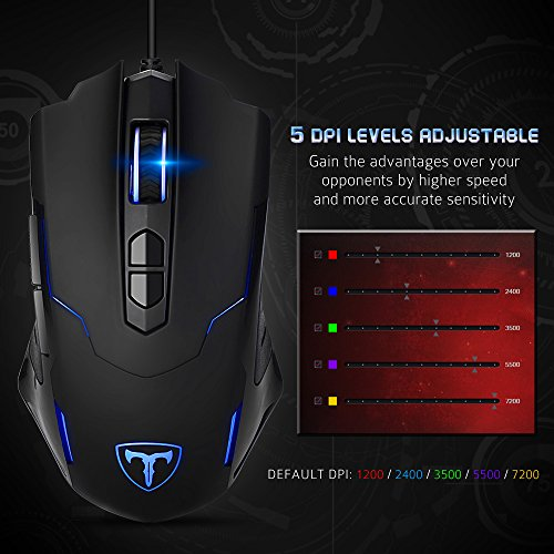 Pictek Gaming Mouse Wired 7200 Dpi Programmable Breathing Light Ergonomic Game Computer Mice With 7 Buttons For Pc Gamer 8119adccd4c9ef57df7fd758230a2a6e Pcpartpicker