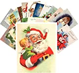 Postcard Pack 24pcs Vintage Christmas Greeting Cards Santa REPRINT