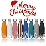 king do way 17oz Double Wall Vacuum Cool Insulation Stainless Steel Water Bottle Leak- Proof and No Sweating Perfect for Summer Outdoor Sports Camping Hiking Cycling (Rose Gold)