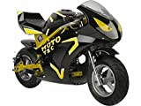 MotoTec Gas Pocket Bike GT 49cc 2-Stroke, Non Califonia Compliant, Yellow