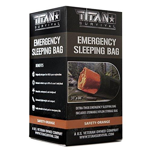 Titan Emergency Sleeping Bag/Thermal Bivy   Safety-Orange   PE, 36' x 78'