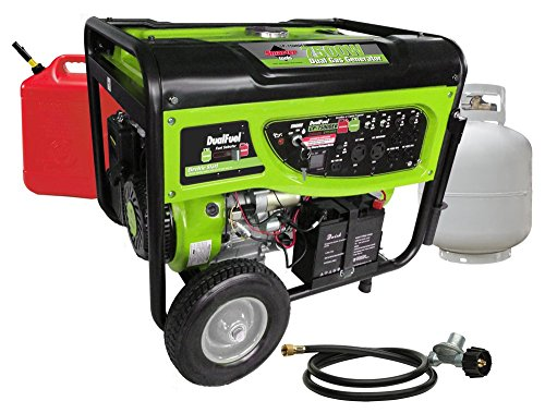 Smarter Tools ST-GP7500DEB, 6500 Running Watts/7500 Starting Watts, Dual Fuel Powered Portable Generator