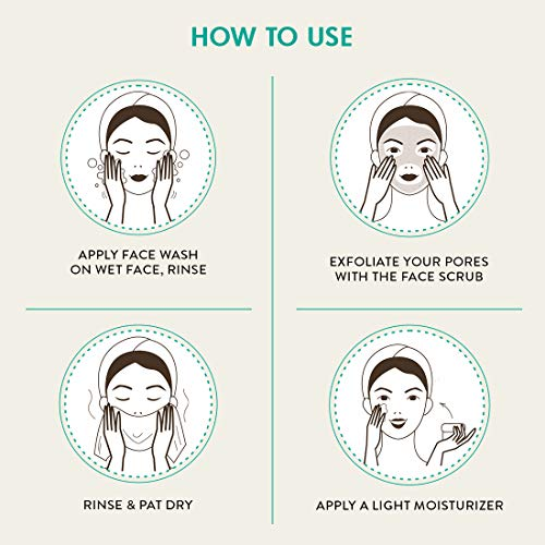 51An4LnyiUL mCaffeine Coffee Anti Pollution Kit   Deep Cleanse, Blackheads Removal   Face Wash (100ml), Face Scrub(100gm)   Oily/Normal Skin   Paraben & SLS Free