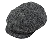 Product review for John Hanly Irish Tweed Cap 8 Piece Charcoal Herringbone Made In Ireland