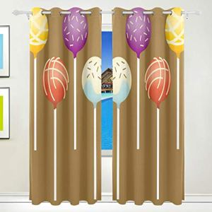 MALPLENA Colorful Cake Pops Sun Block Blackout Window Curtain Room Darkening Thermal Insulating Window Curtains Panels/Drapes 2Panels Set 8Grommets per Panel washable 51Aoqj3EQrL