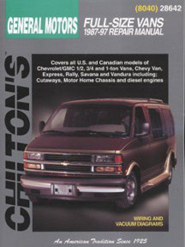 CH28642 Chilton General Motors Full -Size Vans 1987-1997 Repair Manual