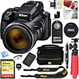 Nikon (26522 COOLPIX P1000 16MP 125x Super-Zoom Digital Camera + 64GB Memory & Accessory Bundle