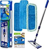 Professional Microfiber mop for Hardwood Tile Laminate & Stone Floors Dredge Best All in 1 kit Dry & Wet Cleaning +3 Advanced Drag Resistant Pads revolutionize Your Mopping Experience