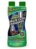 DISSOLVE Liquid Hair & Grease Clog Remover   Drain Opener   Drain cleaner   Toilet Clog Remover, 31 oz