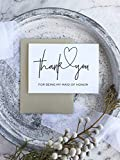 Thank You For Being My Maid of Honor Wedding Day Card,Gift Ideas For My Maid Honor