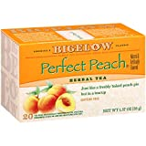 Bigelow Perfect Peach Herbal Tea 20 Bags (Pack of 6), 120 Tea Bags Total.  Caffeine-Free Individual Herbal Tisane Bags, for Hot Tea or Iced Tea, Drink Plain or Sweetened with Honey or Sugar