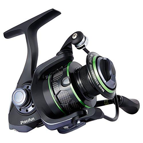 Piscifun Spinning Reel Lightweight Smooth Fishing Reel 5.1:1 9+1BB 13.2LB Carbon Fiber Drag Spin Reels 1000 Series