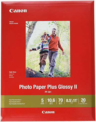 CanonInk 1432C003 Photo Paper Plus Glossy II 8.5' x 11' 20 Sheets