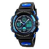 eYotto Kids Sports Watch Waterproof Boys Multi-Function Analog Digital Wristwatch LED Alarm Stopwatch Blue