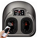 Arealer Foot Massager with Heat, Shiatsu Massager with Air Compression, 5 Mode for feet, with Remote Control & LCD Display, Shiatsu Massager for Blood Circulation & Insomnia, fit for Home & Office