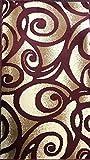 Modern Door Mat Area Rug Burgundy Swirl Bellagio Design#341 (2ft.x3ft4in.)