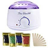 Wax Warmer, Portable Electric Hair Removal Kit for Facial &Bikini Area& Armpit-- Melting Pot Hot Wax Heater accessories Total Body Waxing Spa or Self-waxing Spa in Home For Girls & Women & Men