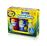 Crayola 8-Ounce Primary Washable Fingerpaint (3 Count)
