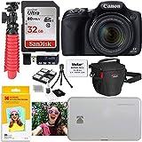 Canon SX530 HS Digital Camera Kit with Kodak Photo Printer Mini 2 and Accessory Bundle
