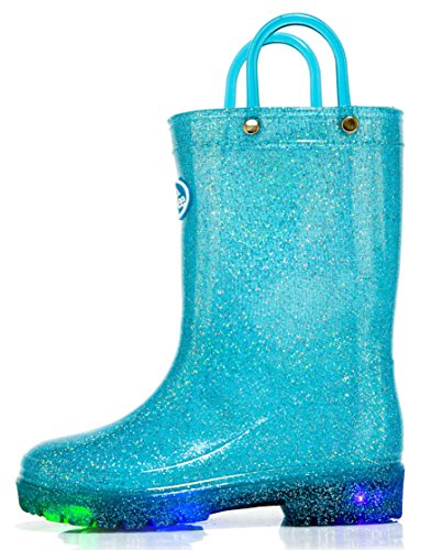 Outee Toddler Kids Light Up Rain Boots Waterproof...