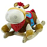 Colt Horse Rocker | Horse Plush Butterfly Baby Toy with Wooden Rocking Chiar Horse/Kid Rocking Toy/Baby Rocking Horse/Rocker/Animal Ride