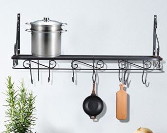 Wall-Mounted-Pots-and-Pans-Rack-Pot-Holders-Wall-Shelves-with-12-Hooks-Kitchen-Shelves-Wall-Mounted-with-Wall-Hooks-Kitchen-Storage-Pot-Holder-Pot-Rack-Pot-Pan-Organizer-Pot-Pan-Rack