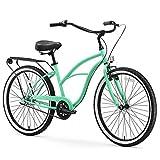 sixthreezero Around The Block Women's 3-Speed Beach Cruiser Bicycle, 24' Wheels, Mint Green, 14'/One Size