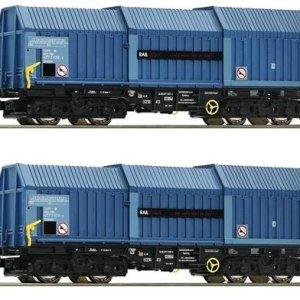 Fleischmann 837926 Raillogix Telescopic Hood Wagon Set (2) VI 51B83IrNTAL