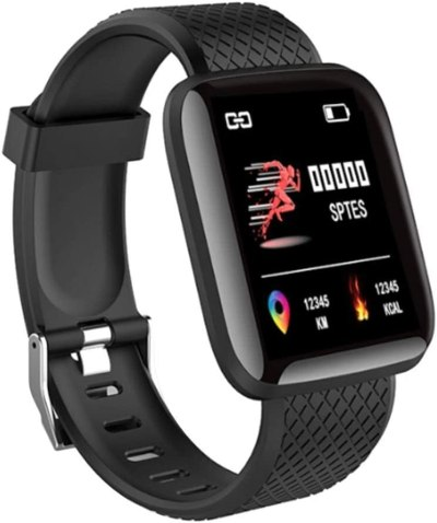 ZEYNEP Smart Band ID 116 Fitness Tracker Watch Heart Rate with Activity Tracker Waterproof Body Functions Like Steps Counter, Calorie Counter, Heart Rate Monitor – Black