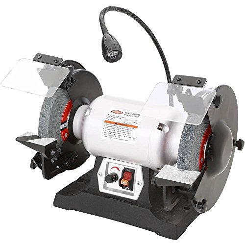 Shop Fox W1840 Variable-Speed Grinder with Work Light, 8""