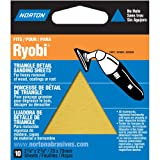 Norton 07660749282 Adhesive Backed Triangle Sanding Sheet for Ryobi Sander, P150 Grit, Fine Grade (Pack of 10)