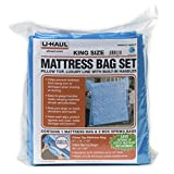 U-Haul Deluxe Mattress and Box Spring Bag Set for Moving and Storage Protection - 2.25 Mil Bags (Deluxe King Mattress Bag Set)