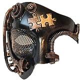 Storm Buy] Steampunk Style Phantom Metallic Half Face Men Masquerade Ball Mask Prom Party (Copper)