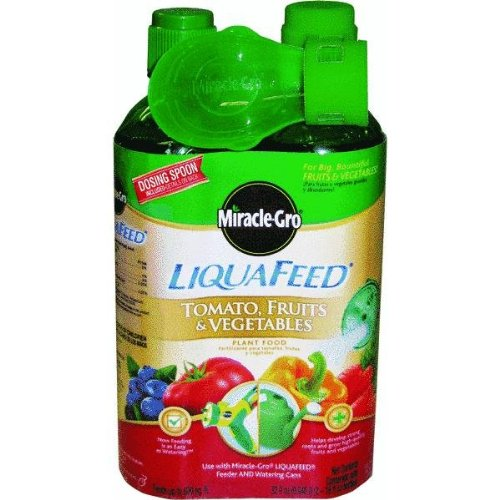 Miracle Gro 1004402 16 Oz LiquaFeed Tomato Fruit & Vegetable Plant Food 2 Count