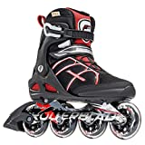 Rollerblade Macroblade 84 Alu 2016 All Around Workout Skate, Black/Red, US Size 11