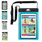 SwimCell #1 Waterproof iPad Case for iPad Mini. Kindle, Camera and Other Dry Valuables. 5.75' x 8.2'. for up to 9' Screen. Pouch. Tested to 20m. Easy to Use. 2 Tablet and Phone