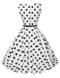 GRACE KARIN Polka Dots Retro Swing Dresses for Women Size M F-6